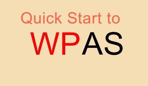 Quick start to WPAS